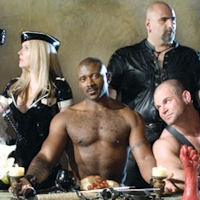 a thumbnail from the Folsom Street Fair advertisement modeled on Da Vinci's Last Supper