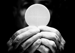 the Eucharistic host