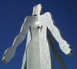sculpture: male and female