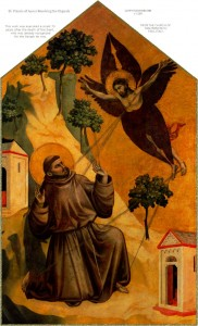 St. Francis of Assisi Receiving the Stigmata by Giotte de Bondone