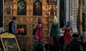 Pussy Riot in the Cathedral of Christ the Savior