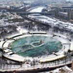 an aerial picture of the old Moscow Pool
